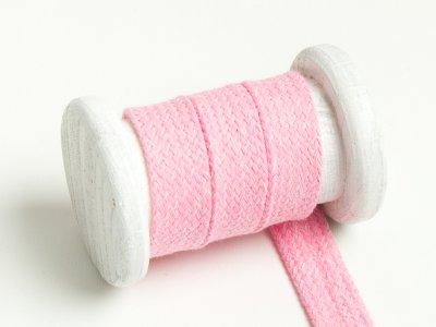 Flache Baumwoll Kordel / Band Hoodie / Kapuze 20 mm breit meliert rosa