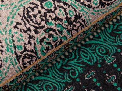 Jersey Jacquard PANEL ca. 85 cm x 155 cm - Orientalisches Blumenmuster - grün