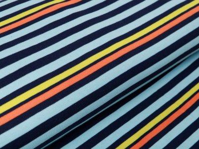 Interlock by Little Darling - Streifen - blau