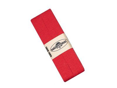 Jersey Schrägband Oaki doki gefalzt 20 mm x 3 m  - rot
