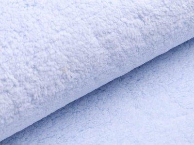 Lammfellimitat Teddy Zottel - uni helles blau