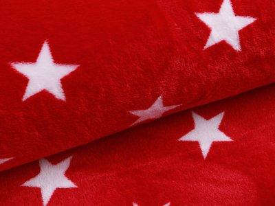 Wellnessfleece - Sterne - rot