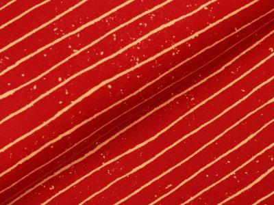Sweat French Terry Digitaldruck Stenzo - gesprenkelte Streifen - rot