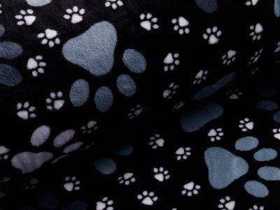 Wellnessfleece - Hundepfödchen - schwarz/grau