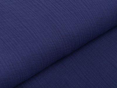 Musselin Baumwolle Hydrofiel Double Gauze Fashion - uni dunkles jeansblau