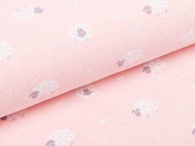 Webware Baumwolle  - Schäfchen - rosa
