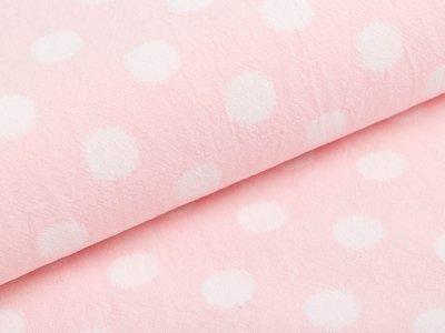 Webware Baumwolle - große Punkte - rosa