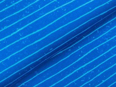Sweat French Terry Digitaldruck Stenzo - mini Graffitiklekse und Streifen - türkisblau