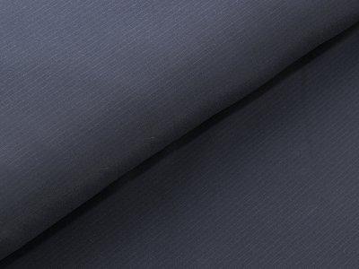 Softshell Funktions Jackenstoff - zarte Nadelstreifen - nachtblau