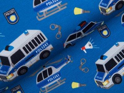 Leicht angerauter Sweat Swafing Gangsterjagt by Sandra Kretzmann - Polizei auf Verfolgungsjagd - petrol