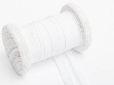 Einfassband/Schrägband Baumwolle kochfest - gefalzt 20mm breit - weiß