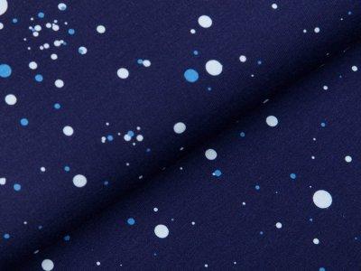 Sweat French Terry Digitaldruck Stenzo - verschiedene Punkte - blau