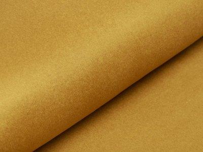 Wollstoff Mantelflausch - uni  senfgelb