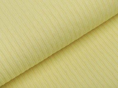 Jersey Strickstoff - Cordoptik - gelb
