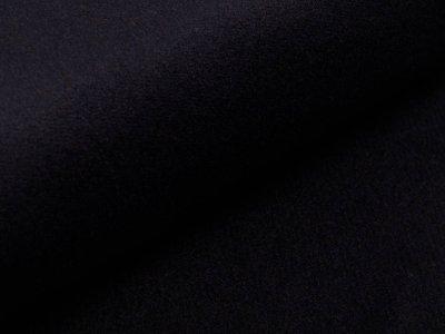 Wollstoff Walkloden Mantel - uni schwarz