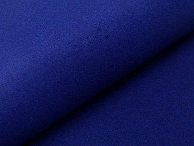Wollstoff Walkloden Mantel - kobaltblau