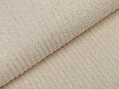 Jersey Strickstoff - Cordoptik - beige