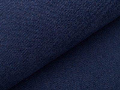 Leicht angerauter Strickstoff Swafing Bono - uni jeansblau