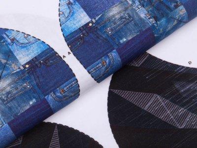 Webware Baumwolle PANEL ca. 100 x 150 cm für Behelfsmasken - 20 verschiedene Motive - weiß