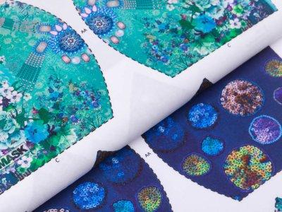 Webware Baumwolle PANEL ca. 80 cm x 150 cm für Behelfsmasken - 20 verschiedene Motive - weiß