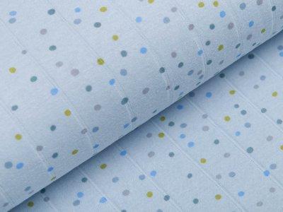 Musselin Baumwolle Hydrofiel Double Gauze - unregelmäßige Punkte - blau