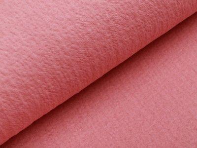Musselin Baumwolle Double Gauze Collino - eingestanztes Blumenmuster - altrosa