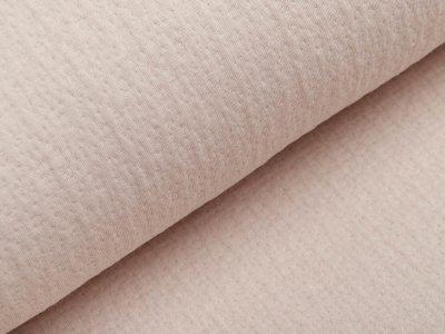 Musselin Baumwolle Double Gauze Collino - eingestanztes Blumenmuster - beige