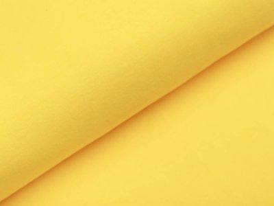 Glattes Bündchen im Schlauch - uni gelb