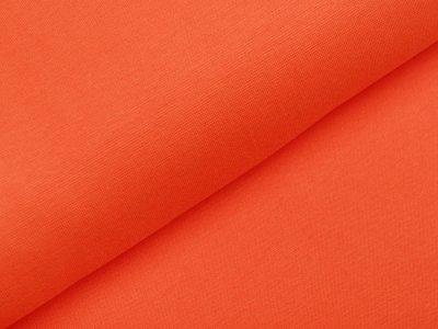 Glattes Bündchen im Schlauch - uni orange