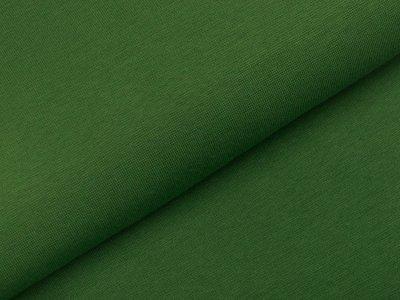 Glattes Bündchen im Schlauch - uni moosgrün