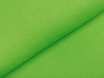 Glattes Bündchen im Schlauch - uni grasgrün