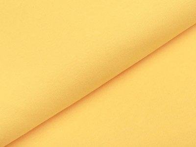 Glattes Bündchen im Schlauch - uni sonnengelb