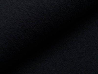 Musselin Baumwolle Double Gauze Collino - eingestanztes Blumenmuster - schwarz