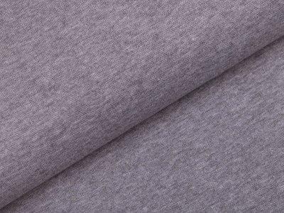 Glattes Bündchen im Schlauch - meliert helles grau