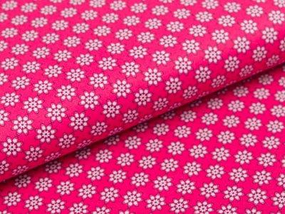 Webware Baumwolle Swafing Kim - kleine Blüten - fuchsia