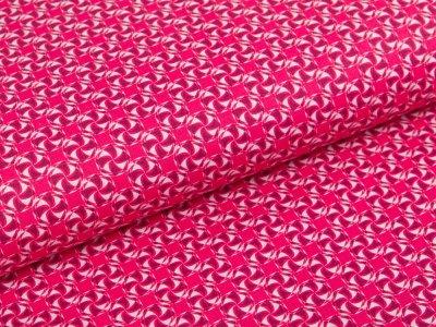 Webware Baumwolle Swafing Kim - kleine Wirbel - fuchsia
