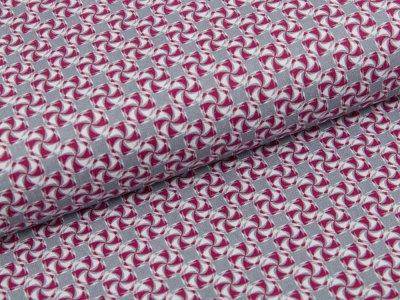 Webware Baumwolle Swafing Kim - kleine Wirbel - grau