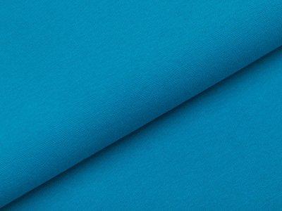 Glattes Bündchen im Schlauch - uni türkisblau