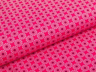 Webware Baumwolle Swafing Kim - kleine Sonnen - fuchsia