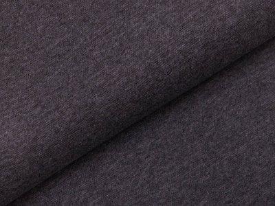Glattes Bündchen im Schlauch - meliert grau