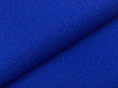 Glattes Bündchen im Schlauch - uni kobaltblau