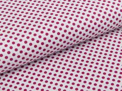 Webware Baumwolle Swafing Kim - kleine Punkte - weiß