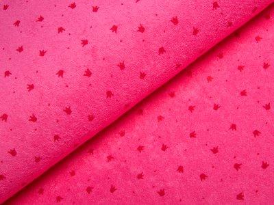 Frottee - Kronen - pink