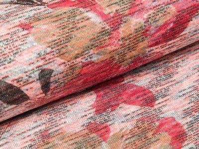 Jersey Viskose - Blumenranken - pink/ rot