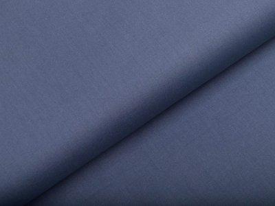 Webware Popeline Baumwolle Organic Cotton - uni jeansblau