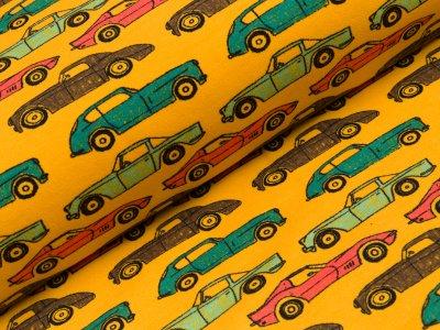 Angerauter Sweat Softtouch - Autos - gelb