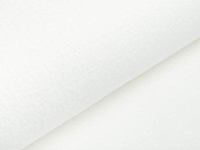 Musselin Baumwolle Double Gauze Collino - eingestanztes Blumenmuster - weiß
