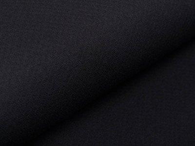 Jersey Ajoure - durchbrochenes Punktemuster - schwarz