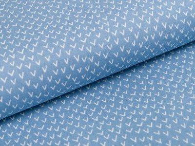 Webware Baumwolle Popeline Stenzo - kleine Berge - blau