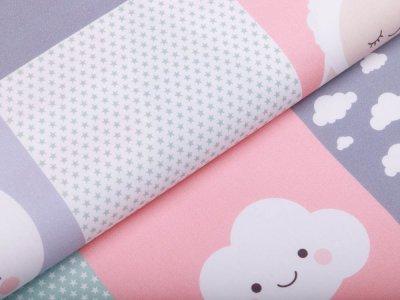 Webware Baumwolle Swafing PANEL ca. 100 cm x 145 cm Welcome Little One by Lycklig Design - Little Girl - weiß/rosa